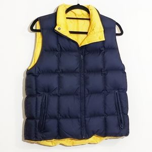 LANDS' END | Navy/Yellow Down Puffer Vest